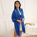 Scarf Luxury Brand Women 2016 Spring Pashmina Blue Dot Fashion Worsted Rayon Dot blanket Trendy Wrap