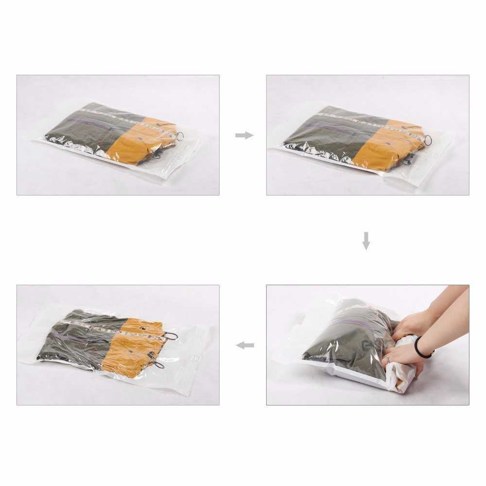 2 Pack Different Size Travel Compress Roll-Up Storage Bags Hot Sale Compressed Organizer Free Shipping Space Bags(China (Mainland))