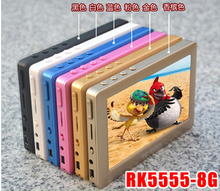 RK5555 4.3-inch 8G touch screen MP4 HD mp5 game with putting dictionary mp4(China (Mainland))