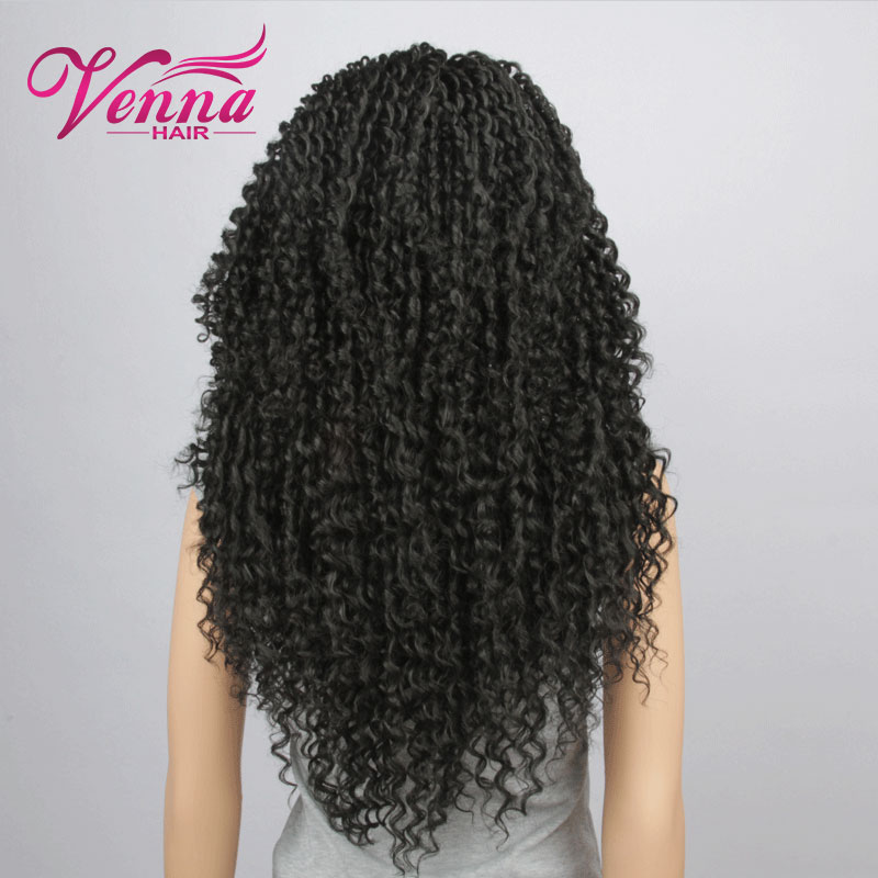 Fashion Hot Selling Long Bouncy Soft Curly Jet Black Heat Resistant Hair Synthetic Lace Front Women Wigs<br><br>Aliexpress