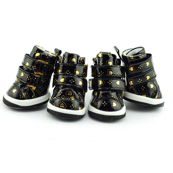 Puppy Pet Dog Anti-slip Waterproof Sporty Shoes Sneakers Breathable Hole Boots(Hong Kong)