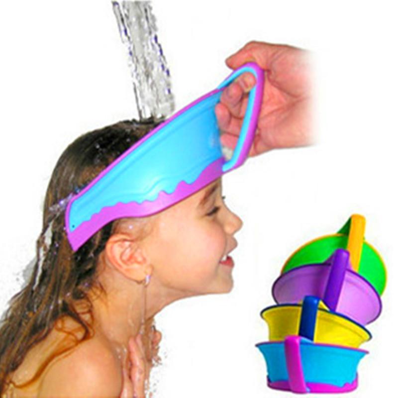 Baby Shampoo Cap Kids Bath Visor Hat Adjustable Kids Shower Cap Protect Hair Wash Shield Child Infant Splashguard Waterproof(China (Mainland))