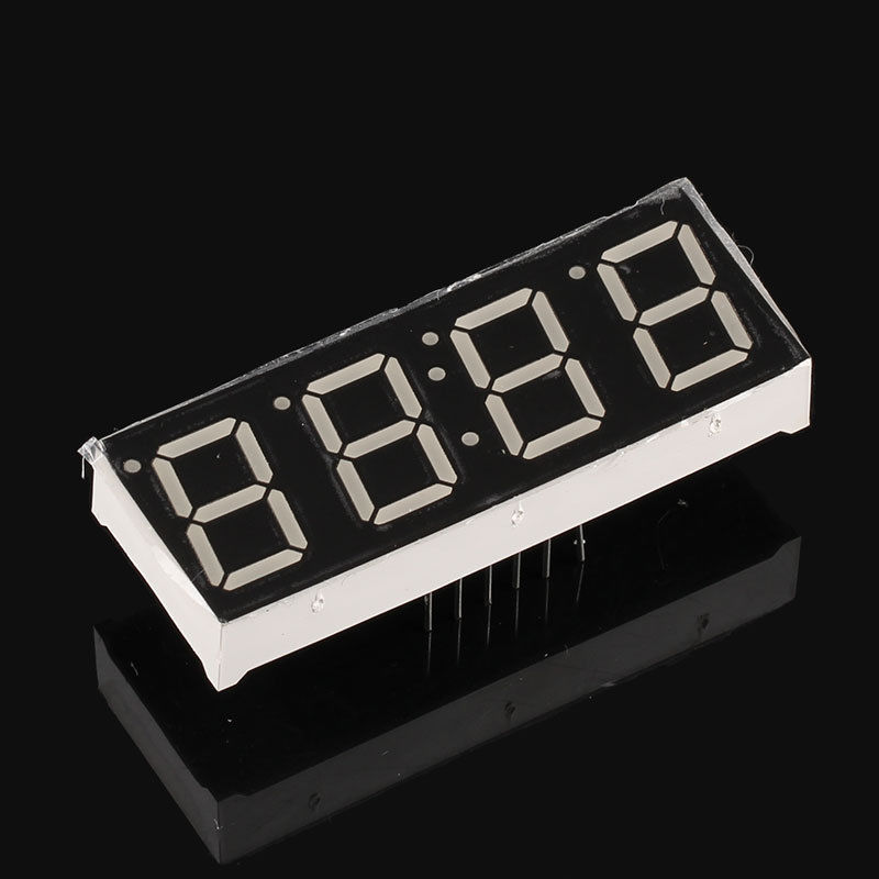 50pcs 4 Digit 7 Segments Displays Common Anode/Cathode 0.56inch RED Clock Type Display LED Time Display 7-Segment 0.56 Segmentos(China (Mainland))