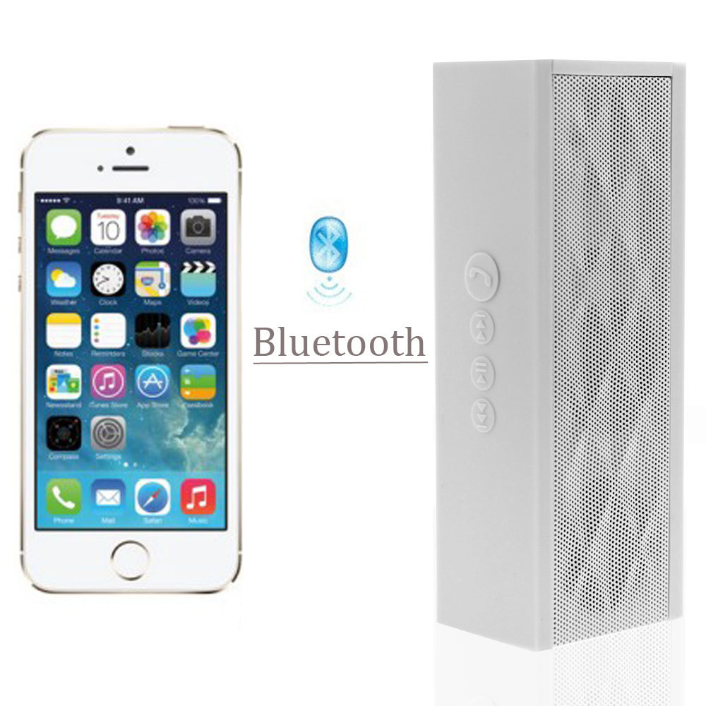 White Wireless Bluetooth Boombox Stereo Speaker Mini Portable Loudspeakers With Microphone For iPhone Samsung PC(China (Mainland))
