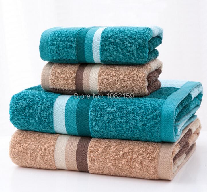 Spa Quality Towels: 3Pcs/Lot High Quality Bath Towel Set, Striped Towels,100
