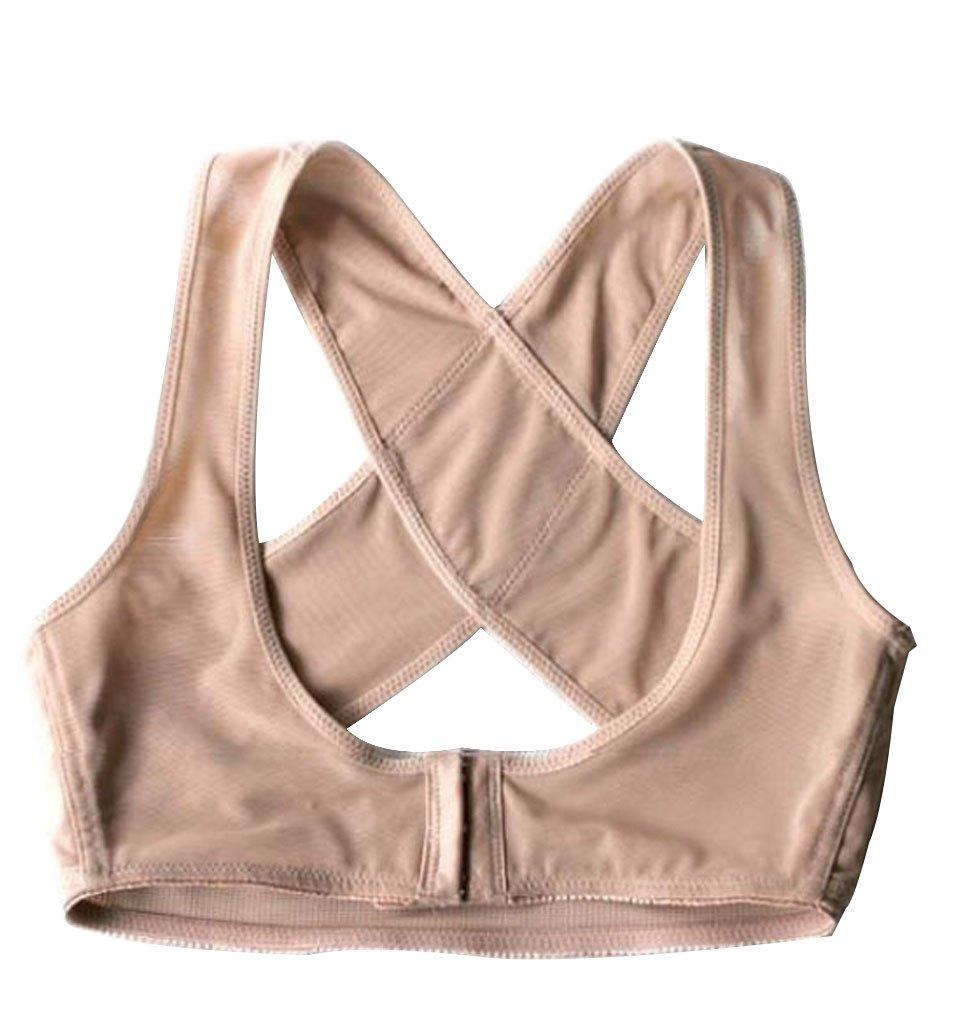 Lady Chest Breast Support Belt Band Posture Corrector Brace Body Sculpting Strap Back Shoulder Vest X Type Pattern Back (L)(China (Mainland))
