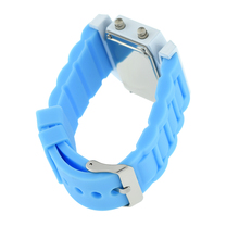 Fashion Sports Men s Waterproof Airplane Shaped Dial Multi Function LED Light Digital Silicone Wrist Watch