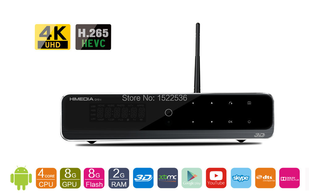Free and fast shipping, HIMEDIA, Android TV Box(Q10II, 4 nucleuses chip/quad-core chips), Home TV Network player, Set-Top Box