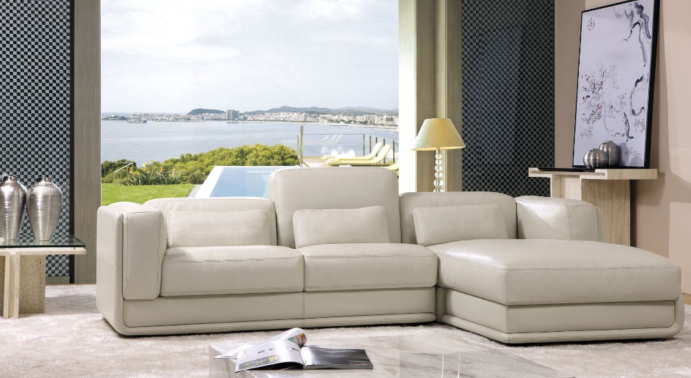 2014 new post modern sectional genuine leather sofa for Latest sofa for living room