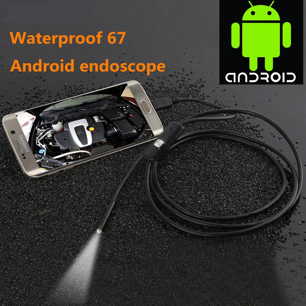 1M 1.5M 3.5M Micro USB Android Endoscope Camera 7mm Len Snake Pipe Inspection 720P Waterproof OTG Android USB Endoscope