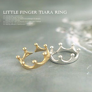 Free shipping 60pcs/lot New Arrival fashion golden and  silver Vintage Crown Opened Ring No 0158