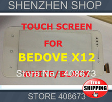 Bedove X12 New Touch Screen Panel Digitizer/Replacement for Bedove X12 Black White Free shipping Airmail Hk + tracking code(China (Mainland))