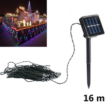 16m Waterproof Solar Power 200LED String Fairy Light Outdoor For Christmas Party Garden