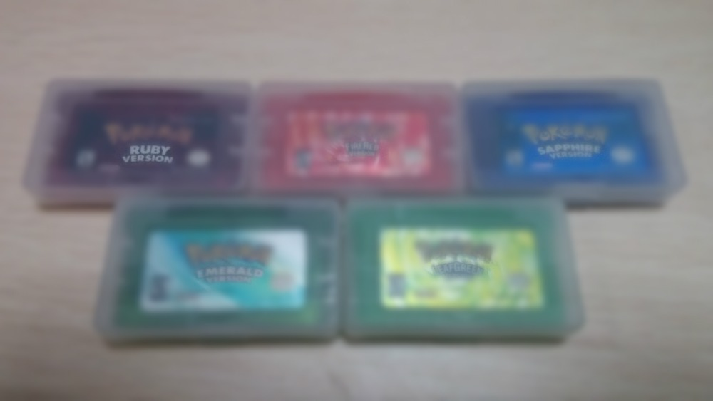 Hot Shiny Label For Poke English games Emerald, Fire Red, Ruby, Sapphire Leef Green version 5pcs/1lot Free Shipping(China (Mainland))