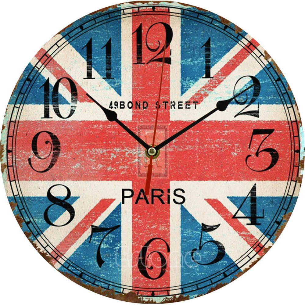 Wholesale vintage wooden wall clock large shabby chic rustic aeproduct amipublicfo Images