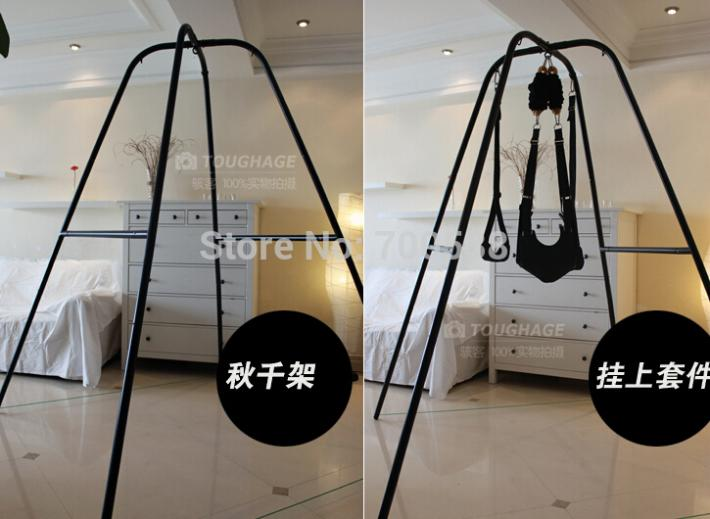 2015 Sale New Pillow Massager Sex Furniture Sex Swing With Support Frame Elastic Bungee Rope Adult Products Chair Bed Furniture(China (Mainland))