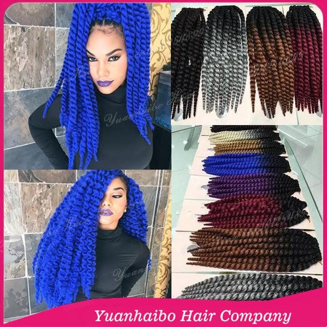 New Product! 20inch two tone color synthetic hanava mambo twists ombre crochet braids 50pcs free shipping<br><br>Aliexpress