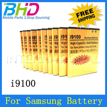 High Quality 2450mAh Built-in dual protection circuit Business lithium golden Battery For Samsung Galaxy S2 i9100,Free Shipping