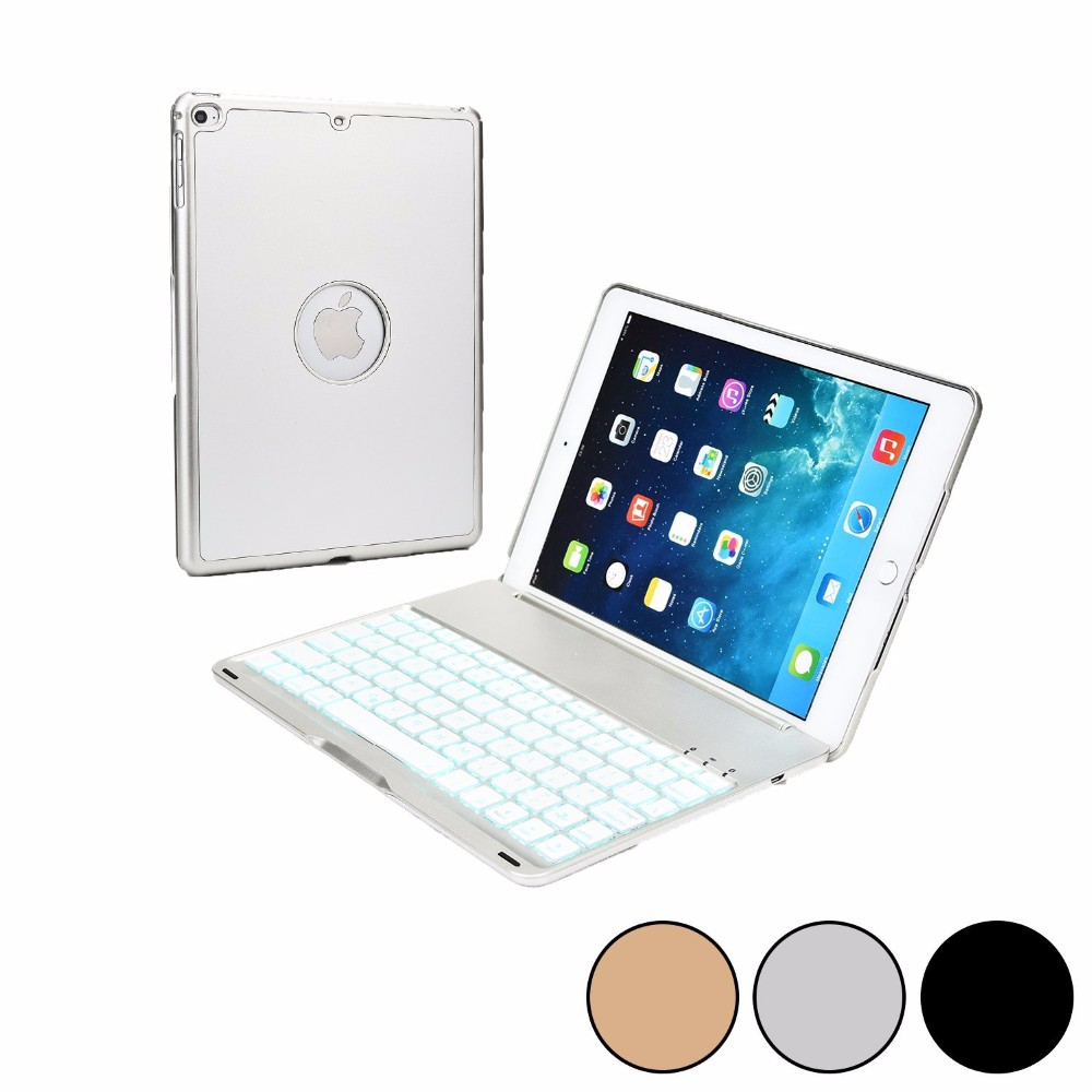Summer 2016 Wireless Keyboard with USB Micro Silver Bluetooth for Apple Cover iPad Air 2 Case MacBook Laptop Backlight suporte(China (Mainland))