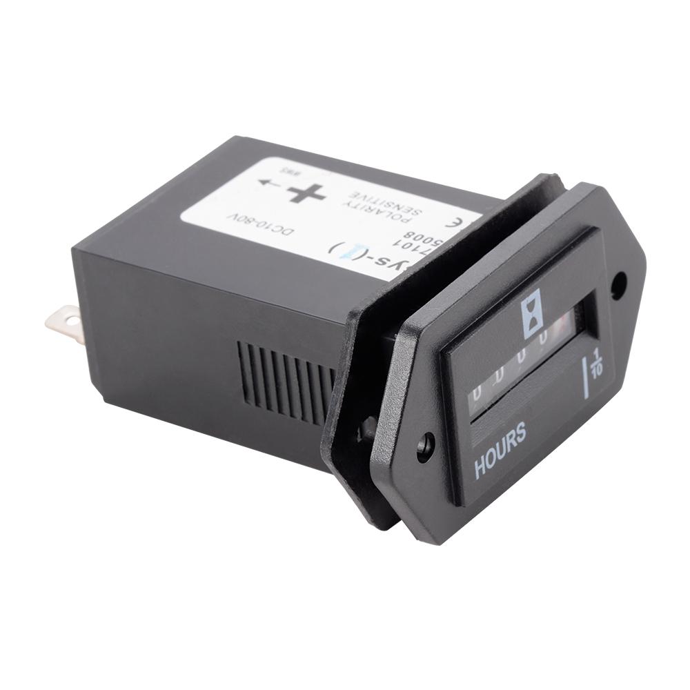 AC100-250V Electromechanical 6-digit Hour Meter Counter for Car Boat Motor TE537+(China (Mainland))