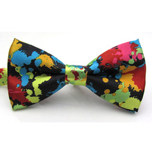 Wedding Party Essentials Charming Adjustable Colorful Butterfly Printing Men Bow Ties(China (Mainland))