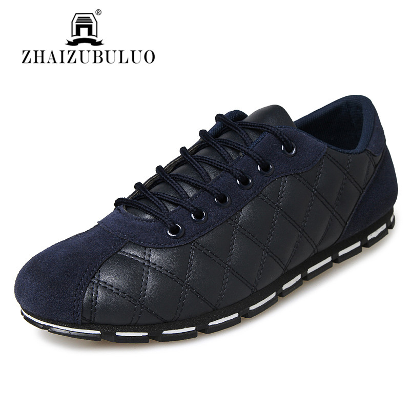 New 2016 High Quality Men PU Leather Flats Lace Up Low Top Spring Autumn Loafers Soft Light Male Footwear Casual Driving Shoes<br><br>Aliexpress