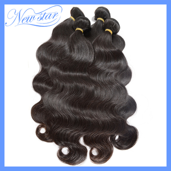6a grade Mixed lengths 4pcs/lot virgin Eurasion body weave wave machine weft natural black or dark brown color DHL free shipping
