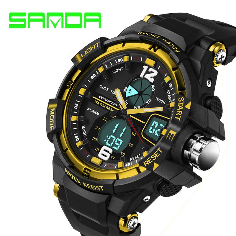 2016 New Brand SANDA Fashion Watch Men G Style Waterproof Sports Military Watches Shock Men's Luxury Analog Quartz Digital Watch(China (Mainland))