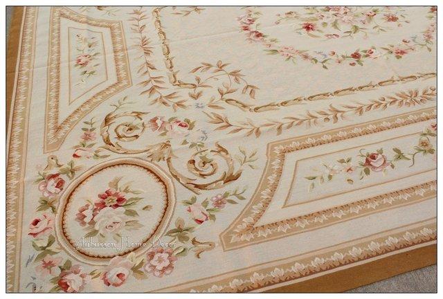 subtil bleu pastel 9x12 aubusson tapis w roses roses laine pastel fran aise 3000 aubusson hone. Black Bedroom Furniture Sets. Home Design Ideas