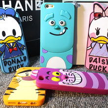 Buy New Cute 3D Cartoon Monsters Alice Cat Tigger Donald Daisy Duck Soft Silicon Phone Cases Cover iPhone 5 SE 5S 6G 6S 7 7 Plus for $2.96 in AliExpress store
