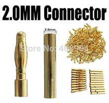 20pair/lot  2.0mm 2mm 2.0 Gold Bullet Connector plug Lipo RC battery Plugs(China (Mainland))