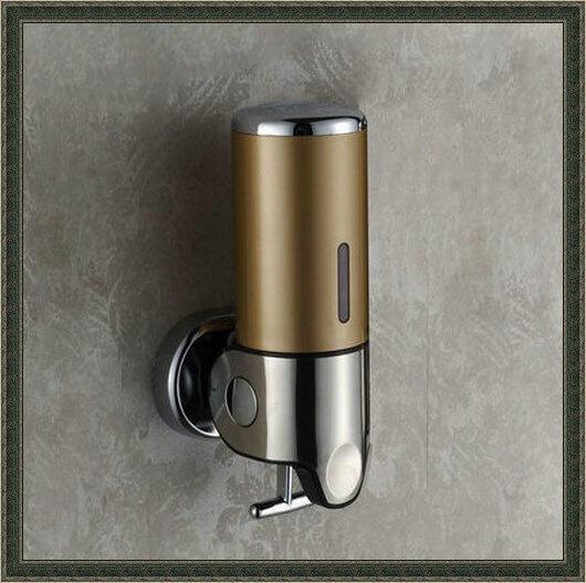 Bathroom Shampoo Box Wall Mounted Liquid Soap Dispenser dropship faucet seat(China (Mainland))