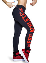 2015 Real Special Offer High Sport Punk Digital Printing Export Wholesale And Retail Side Letters Exercise Leggings Slgs9112