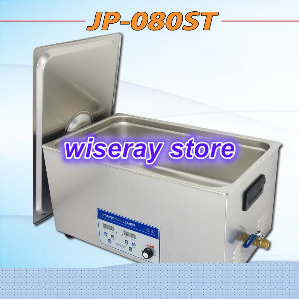 free shipping 110V/220V JP-080ST 160-480W Ultrasonic Cleaner 22L for industrial laboratory Stainless Steel Cleaning Machine(China (Mainland))