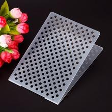 High Quality Dots Plastic Embossing Folder For Scrapbook DIY Album Card Tool Plastic Template #230609(China (Mainland))
