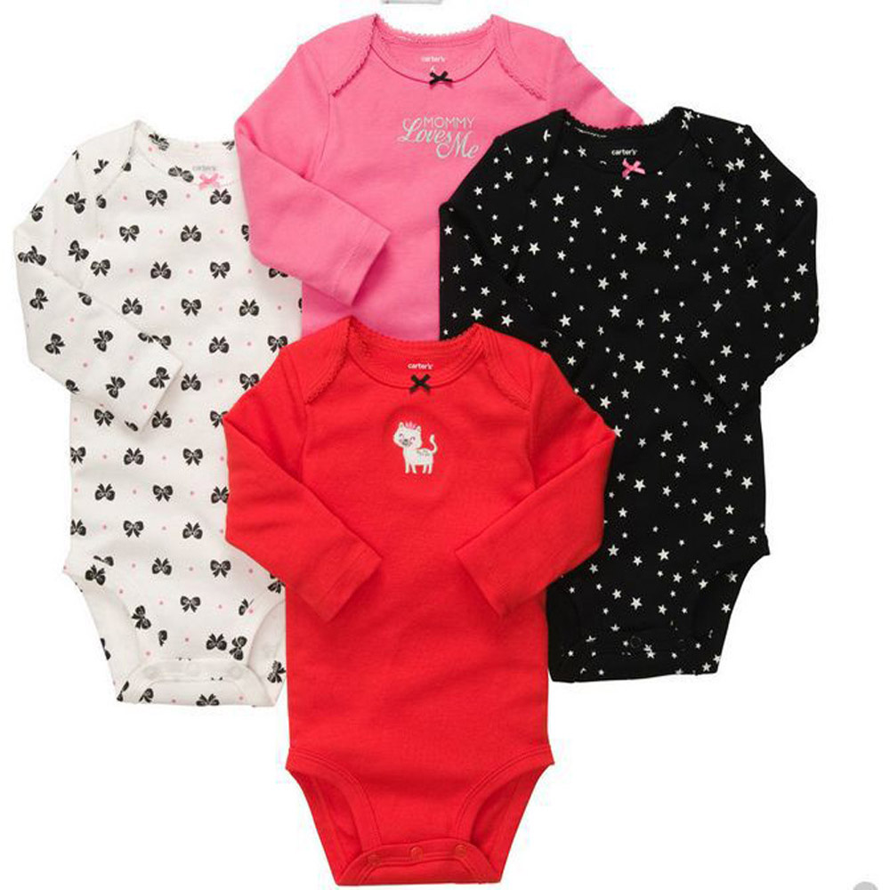 5pcs/lot Summer short-sleeve toddlers cotton Jumpsuits Carters Baby Suit Carters Rompers Boy Girl design multicolour<br><br>Aliexpress