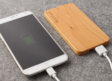 Universal wooden power bank 4000mah Charging treasure wood suitable for iPhone ipad Android mobile charge phone