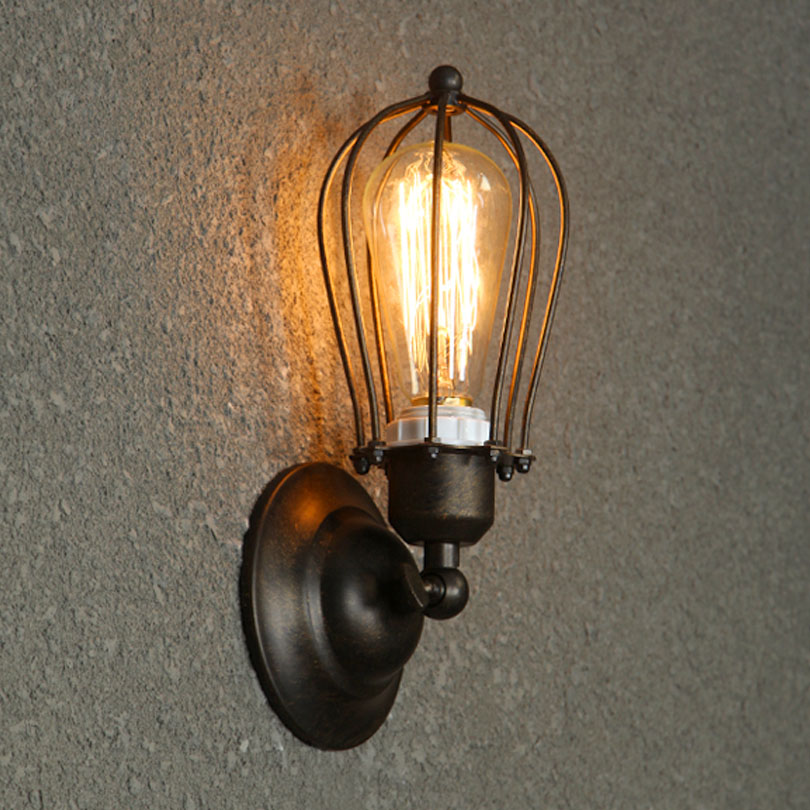 American Village Loft Industrial Edison Style Vintage Wall Light Lamp, Retro Water Pipe Lamp Wall Sconce Free Shipping<br>