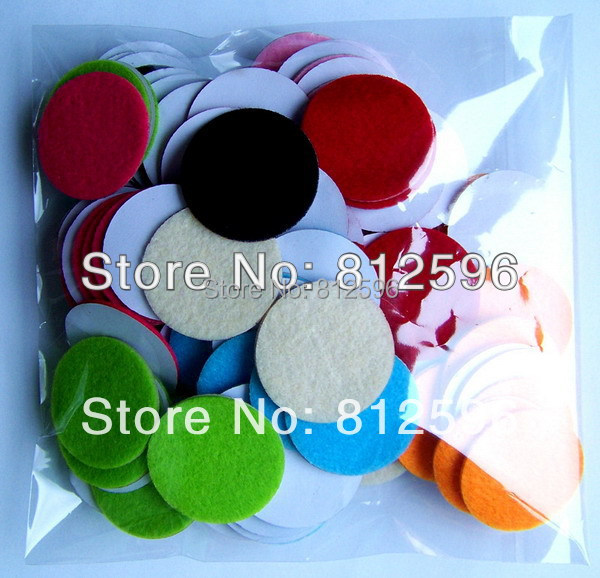 "Free Shipping 200pcs 2015 Laser Craft 1.5"" Self Adhesive Soft Felt Circle Stickers for Baby Headband Home Decoration DIY(China (Mainland))"