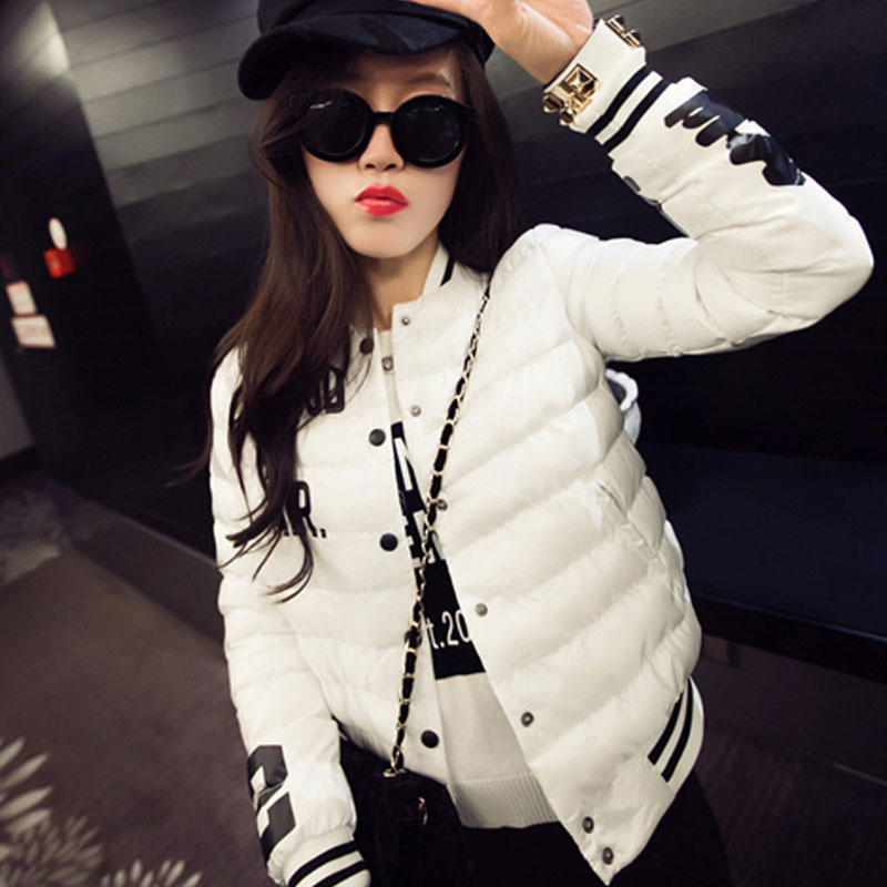 European and Americian Style Women Winter Coats Patch Designs Pocket Slim Fashionable And Comfortable Plus Size White Coats(China (Mainland))