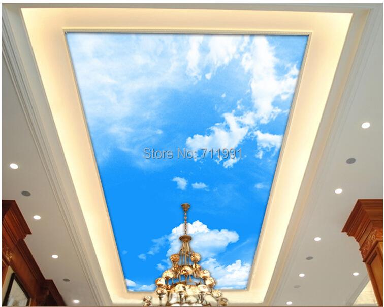 Decke Tapete Sternenhimmel : sky blue sky wandbild 3D stereo abgeh?ngte decke(China (Mainland