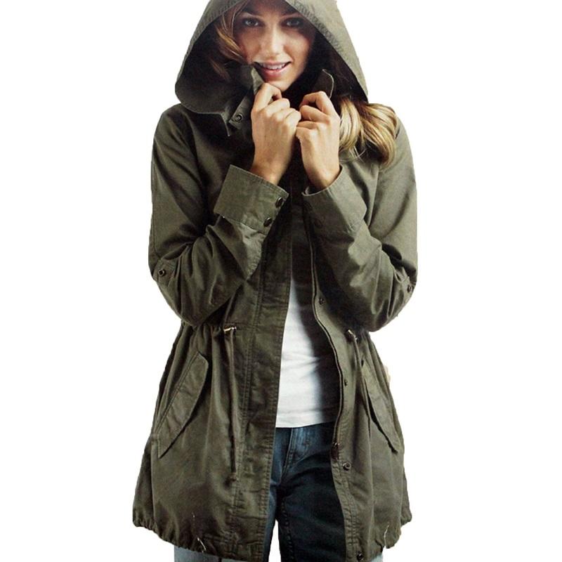 Fashion Womens Ladies Winter Warm Long Sleeve Zipper Fleece Jacket Coat Parka Outwear Size S M L