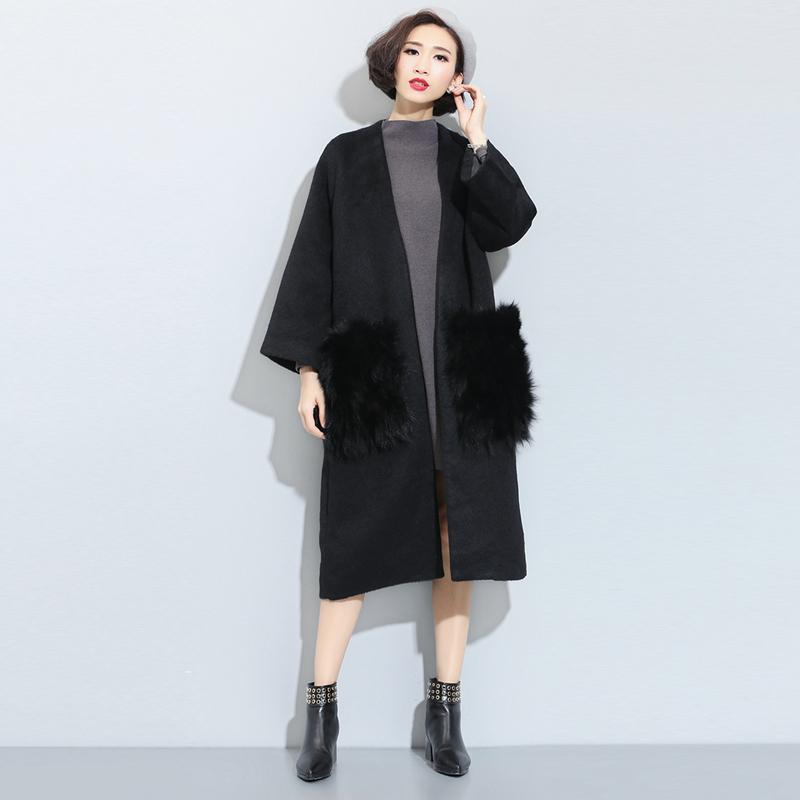 TWOTWINS 2016 Spring Woolen Clothing Pure Color Big Length Woollen Coat Long Sleeve Cardigan Coat Women Trench LadiesОдежда и ак�е��уары<br><br><br>Aliexpress
