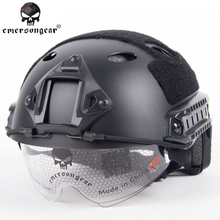 EmersonGear Military Airsoft Protection FAST Helmet With Protective Goggle PJ Type Emerson Helmet Jump Tactical helmet EM8819(China (Mainland))