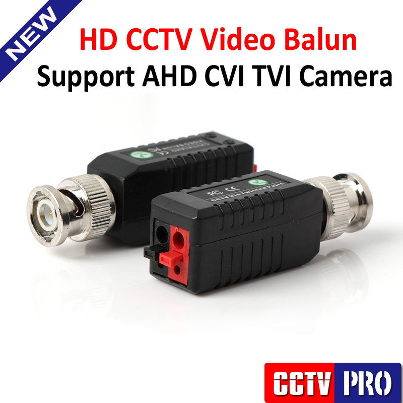 HD Twisted BNC CCTV Video Balun Passive Transceivers UTP Balun BNC Cat5 CCTV Support AHD HDCVI TVI Camera Upto 250m-450m Range(China (Mainland))