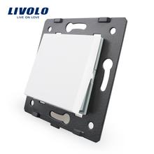 Livolo Blanco Materiales Plásticos, 45mm * 45mm, Estándar de LA UE, Bing Función de Forma Clave De Pared Interruptor De Botón, VL-C7-K1-11