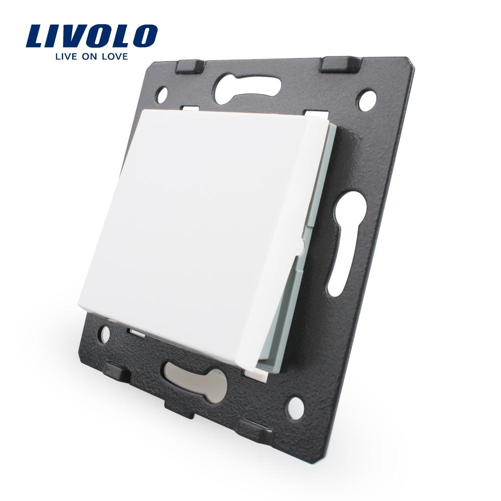 Livolo White Plastic Materials, 45mm*45mm, EU Standard, Bing One Way Function Key For Wall Push Button Switch,VL-C7-K1-11(China (Mainland))
