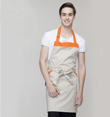 021052 Han edition waiters and waitresses apron household kitchen restaurant chefs work apron hang neck coffee shop(China (Mainland))