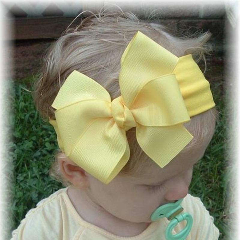 """4.5"""" Girls' Hair Accessories hairs clips with grosgrain ribbon bows Childrens hairbows Baby hair bows LB41(China (Mainland))"""