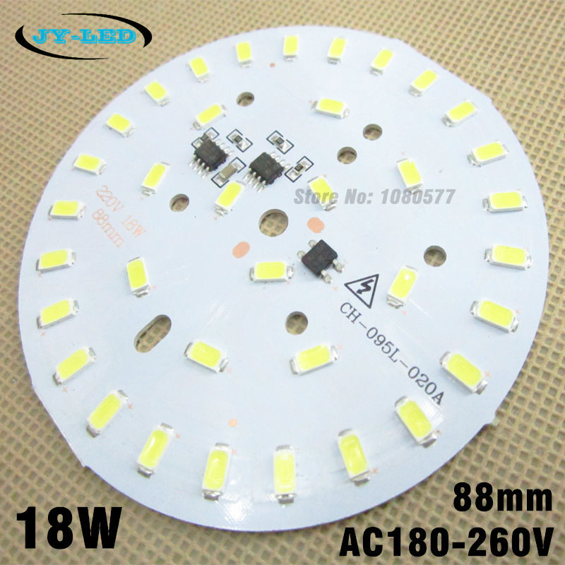 10pcs 220v 18W 5730 smd led light pcb integrated ic driver, 88mm aluminum blub plate for LED bulbs lighting(China (Mainland))